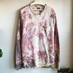 J Crew Bleached vintage fleece mens size XL EUC